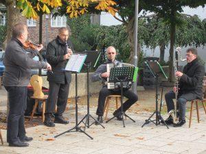 """Die Klezmer-Band """"Tacheles"""" umrahmte die Gedenkfeier durch vier Musikbeiträge."""